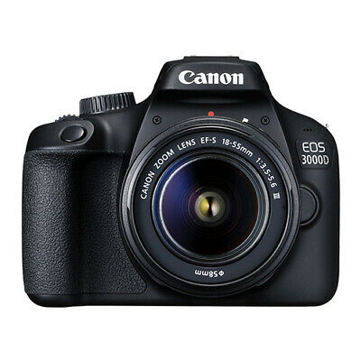 Canon EOS 3000D 18.0 MP Digital SLR Camera with 18-55mm EF-S f/3.5-5.6 Lens
