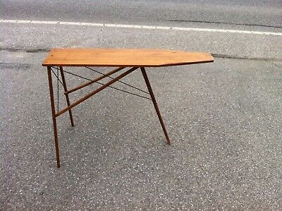 Antique Wood Ironing Board Folds Up Has Three Legs Folds Up Very Easy