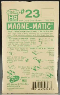 "NEW Kadee HO Series Magne 1/4"" Short Centerset Couplers 1/4"" 23"