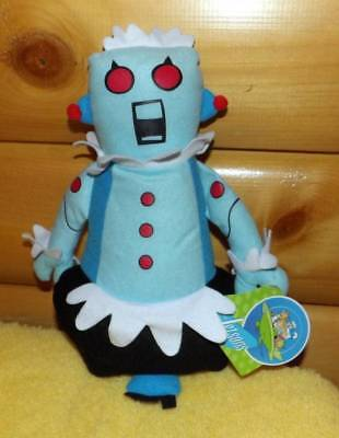 """The Jetsons Space Age Plush 13"""" Hanna-Barbera Blue Robot Maid ROSIE"""