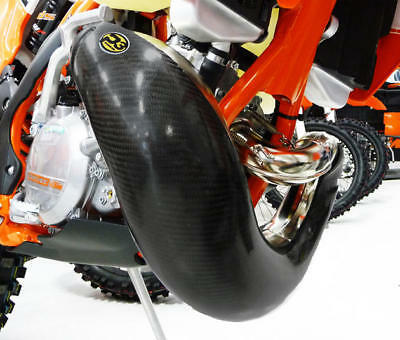 P3 Carbon Fiber Pipe Guard for FMF Gnarly Pipe #101064-FMF for KTM