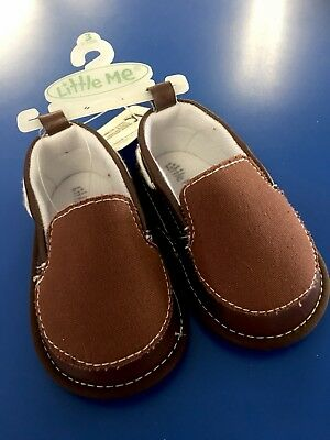 NWT Little Me Toddler Boys Shoes Slip Ons Size 4 Cute