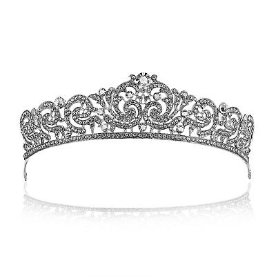 Bridal Pageant Rhinestone Crystal Wedding Prom Crown Tiara 81027