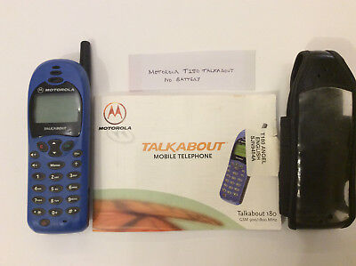Motorola T180 Talkabout Mobile Phone  On O2