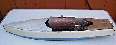 Vintage 1930's Hobbies Bowman Live Steam Model Boat Launch Snipe ? Copper