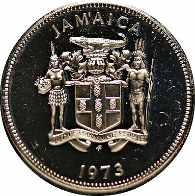 Jamaica, 1973 20 Cents, Flower, Proof, No Reserve,                         mab10