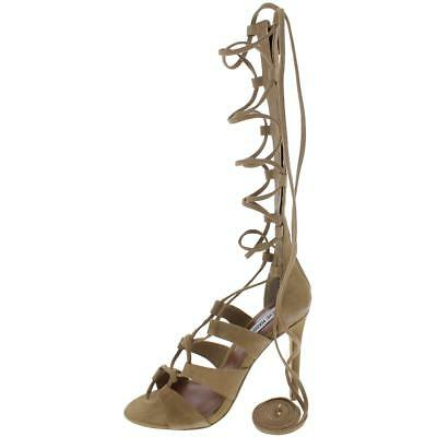 b9b0b946269 STEVE MADDEN WOMENS Faroh Brown Gladiator Sandals Heels 8 Medium (B ...