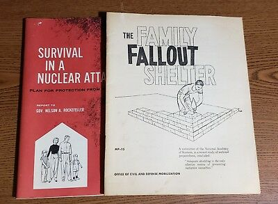 2 cold war guides The Family Fallout Shelter and Survival in  a Nuclear Attack
