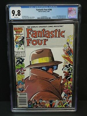 MARVEL COMICS FANTASTIC FOUR #296 1986 CGC 9.8 WHITE PAGES 25th ANNIVERSARY
