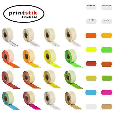 Price Gun Labels 26x12mm CT4 Various Colours Best Before Lynx Puma Motex
