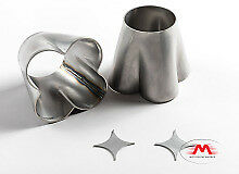 "Turbo Header Collectors Stainless Steel 304 (4 into 1) 1.75 to 2.5"" w/ star"