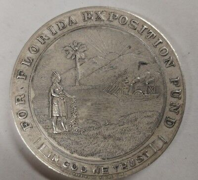 1915 San Francisco Panama Pacific Expo Florida Fund HK 404a Token Silver Bronze