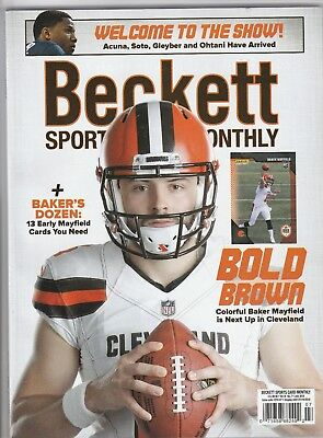 New Beckett Sports Card Monthly Price Guide Magazine, July 2018 (Baker Mayfield)