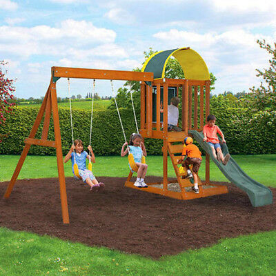 Big Backyard Ridgeview Deluxe Clubhouse Swing Set 1 368 65 Picclick