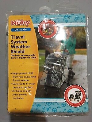 Nuby Travel System Weather Cover Umbrella Shield For Stroller