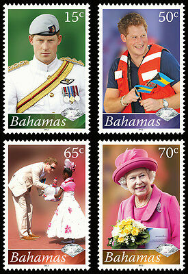 Bahamas 2012 Diamond Jubilee 4v set MNH