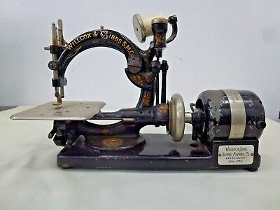 Vintage Willcox & Gibbs Antique Sewing Machine Electric Motor