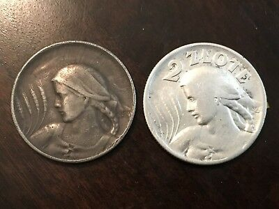 2 Coins for two zloty-variety 1925 year.  silver