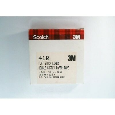 Scotch 410 02120023821 3M Double Coated Paper Tape Flat Stock Liner