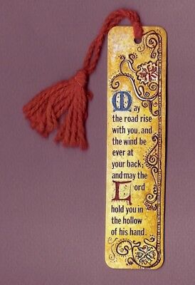 Vtg 1972 Antioch Paper Bookmark - Irish Blessing - May the road rise with you