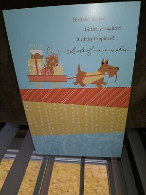 Scottish Terrier~Scottie~Scotty Dog Birthday Card New Unsigned~Tender Thoughts