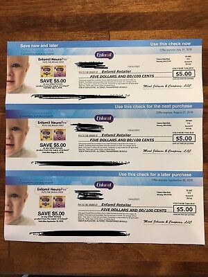 Enfamil Coupons - $15 - Expires 7/31/18, 8/31/18 and 9/30/18