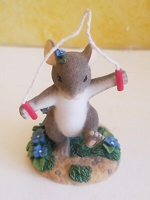 "Fritz & Floyd Charming Tails Figurine ""Just a Hop Skip & Jump Away""  New in Box"