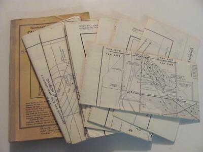 CALIFORNIA OIL FIELDS +7 MAPS Vintage Book Oil Gas Station Companies 50's Wells