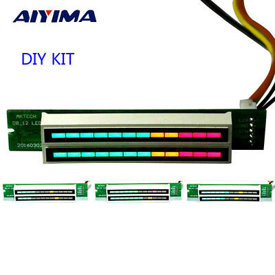 Aiyima Mini Dual 12 Level indicator VU Meter Stereo AGC Mode Diy KIT LED Display