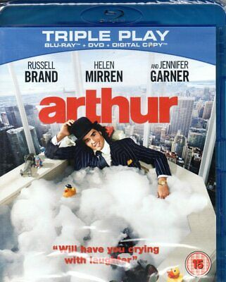 Arthur (Blu-ray + DVD + Digital Copy)-Region B-Brand New-Still Sealed