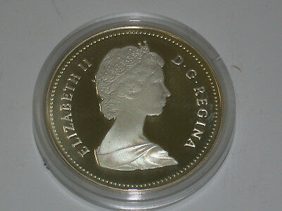 1987 Canada Mint Proof Silver Dollar Silver With Box And COA
