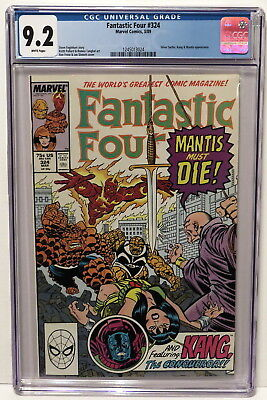 Fantastic Four #324 Silver Surfer Kang & Mantis Appear 3/89 White Pages Cgc 9.2