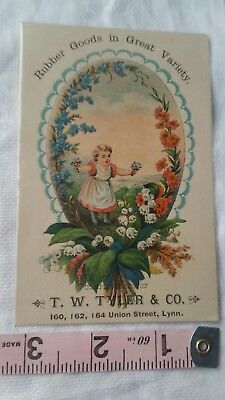 Vintage Advertising Card Retro Early Collectable Rubber Goods In Great Variety