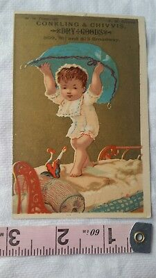 Vintage Advertising Card Retro Early Collectable Conkling & Chivvis Dry Goods