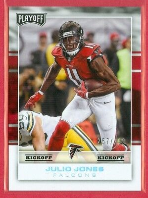 2017 PLAYOFF (FB) Julio Jones SP KICKOFF PARALLEL Card (#5) #ed 257/299 FALCONS