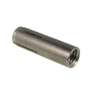 Qty 1 Drop In Anchor M8 (8mm) x 30mm Stainless A4 G316 SMOOTH BODY Masonry
