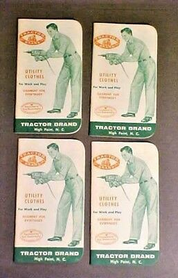 4-1955 vintage Tractor Brand- High Point NC Work Clothes Advertising Notebooks