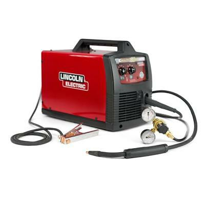 New Lincoln Weld-Pak 180 HD MIG Wire Feed Welder Magnum 100L Gun, Gas Regulator