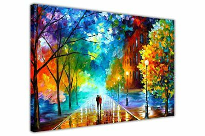 AT54378D: Freshness Of Cold By Leonid Afremov On Framed Canvas Pictures New Art