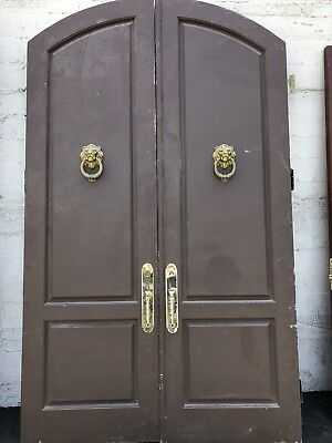 Arched Door Double Entry Doors Double Door Knockers 107x63