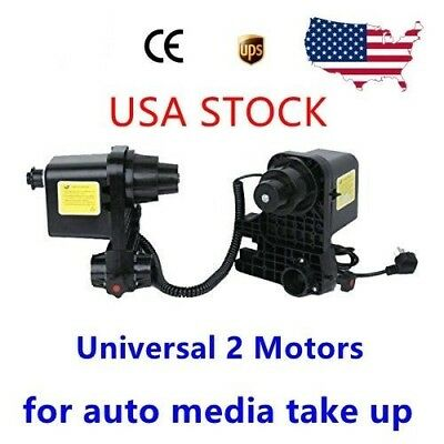 Pro Auto Media Take up Reel Paper Roller System 2 Motors For Roland Epson Mutoh