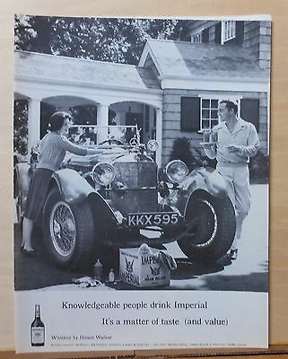 1960 magazine ad for Imperial Whiskey - Antique Mercedes & whisky drinkers