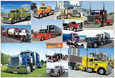 """J-4766 TRUCK COLLECTION BIG CAR MOTOR THE POSTER 24""""x36"""" NEW SHEET SIDE WALL"""