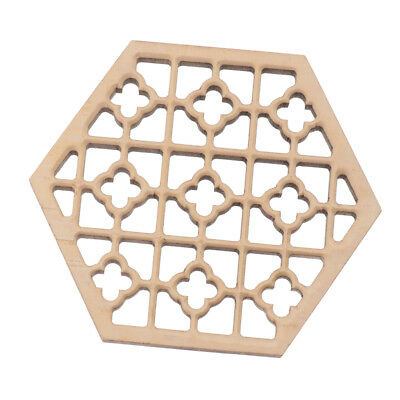 Durable pulido Candlenut madera Hexagonal Erhu Sound Hole decoración