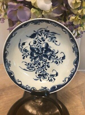 Dr Wall Royal Worcester Blue Dish Crescent Mark Excellent Condition C.1765