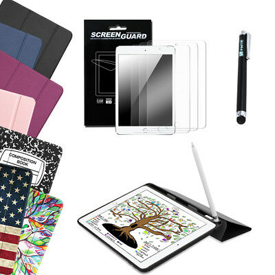 For New Apple iPad 9.7 6th 2018/2017 Slim Case Cover TPU Back+3 PCS Protect+Pen