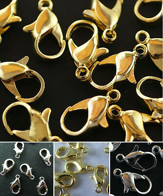 Free Shipping Silver/Gold Plated Jewelry Finding Lobster Claw Clasp For Jewelry