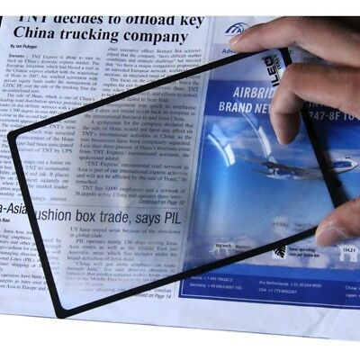 New A5 Flat PVC Magnifier Sheet X3 Book Page Magnifying Reading Glass Lens