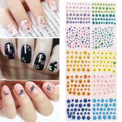 50 Sheets/Sets Flower Water Transfer Manicure Nail Art Stickers Decals DIY Tips