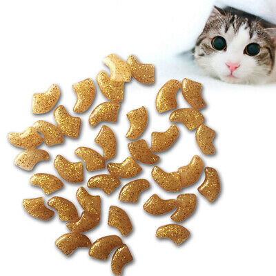 20Pcs Cat Nail Covers Pet Claw Paws Caps Adhesive Glue Animal Protection US